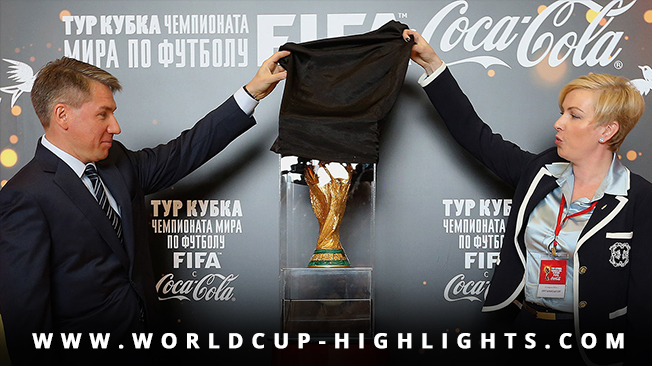FIFA began touring the 2018 World Cup trophy in Moscow