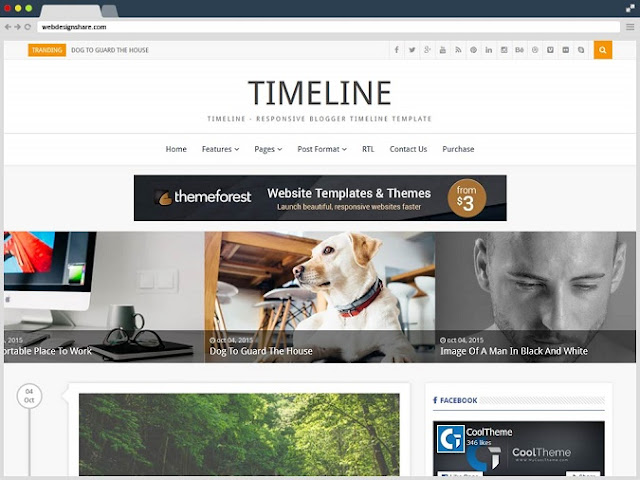 Top Best Premium Professional Blogger Template Download Free - Timeline blogger template