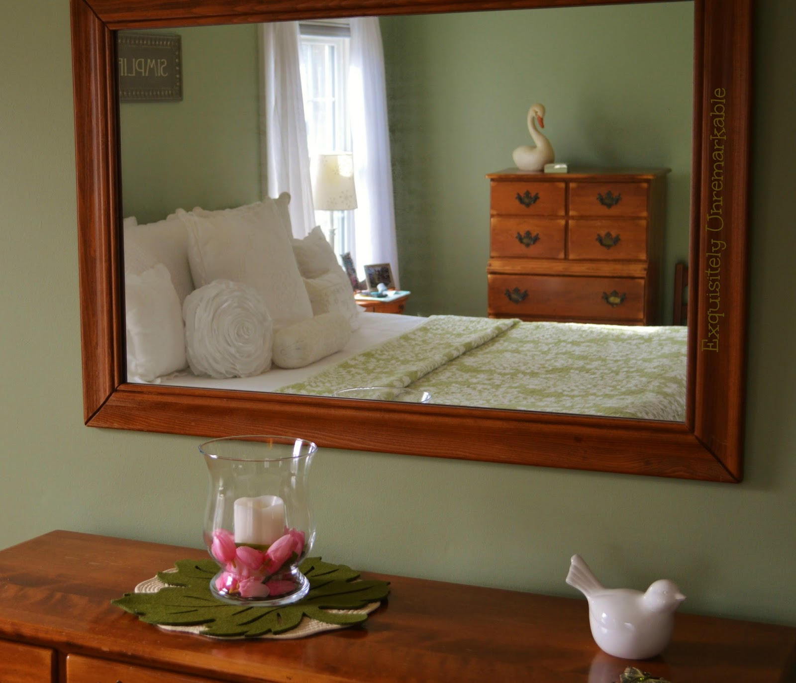 Green Bedroom Cottage Style Decor
