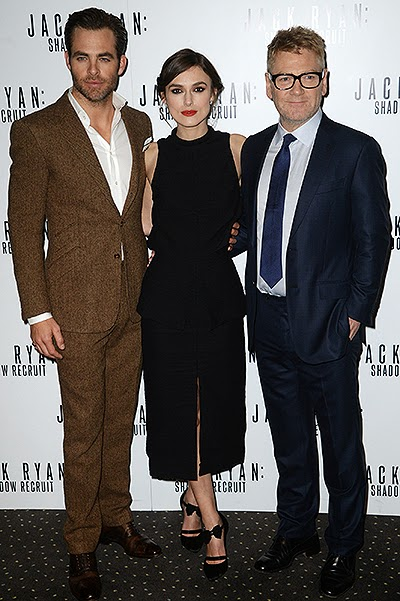 Chris Pine, Keira Knightley and Kennet Branagh