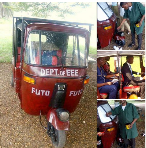 Nigerian Student Designs Solar Powered Tricycle For His School Project ( See Photos)