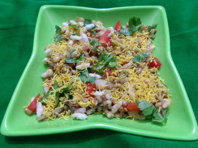 Healthy sprout bhel