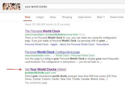 Out Of Google Sandbox - Your World Clocks