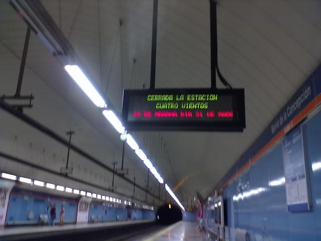 Cortes de metro y tren en las estaciones de Cuatro Vientos