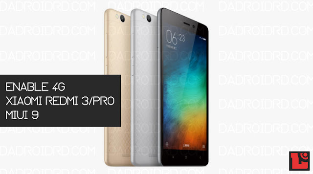 Cara 4G Xiaomi Redmi 3/Pro MIUI 9