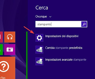 Stampante su Windows 8.1