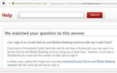 Can I sign in to Scotia OnLine and Mobile Banking services with my Credit Card?