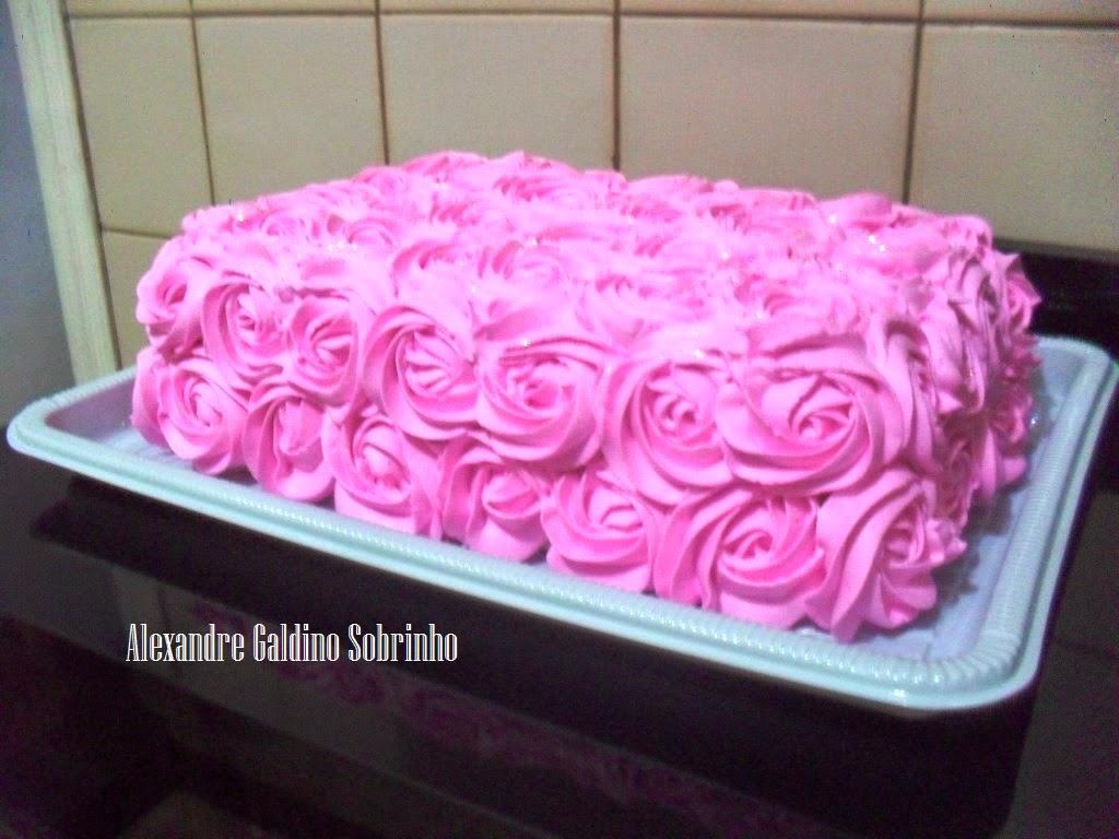 Alexandre Galdino Télo Bolos Bolo Rosas De Chantilly