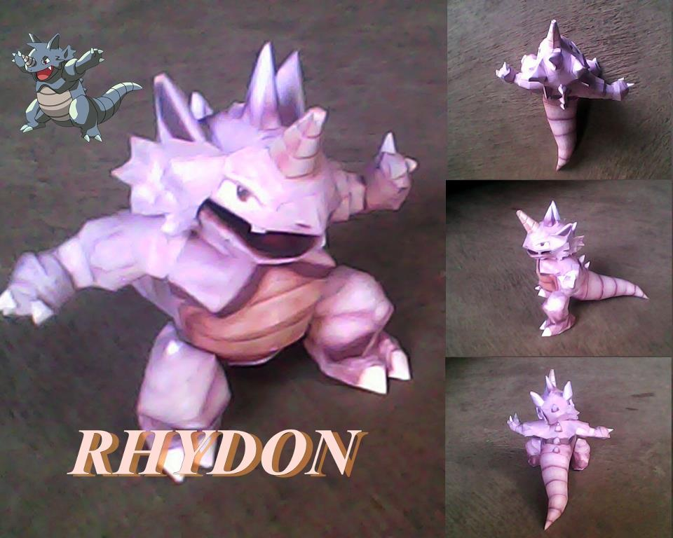 Pokemon Rhydon Papercraft