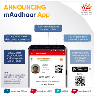 UIDAI mAadhaar App, mAadhar Apk Download for Android Mobile