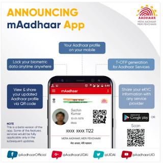 UIDAI mAadhaar App, mAadhar Apk Download for Android Mobile