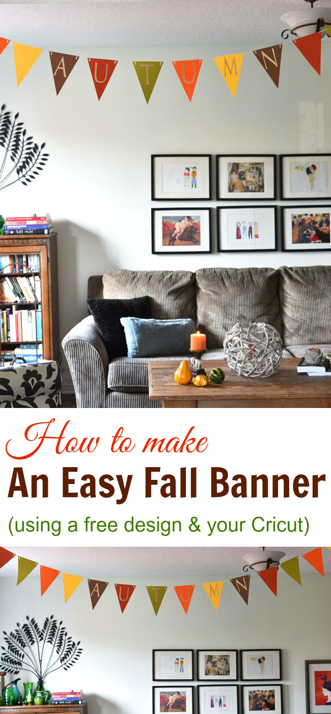 How To Craft An Easy Fall Banner With Your Cricut (with a free design)