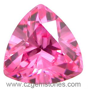 pink trillion cut cubic zirconia