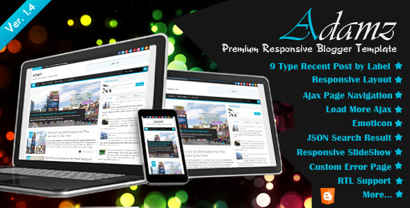 Adamz responsive blogger template free download