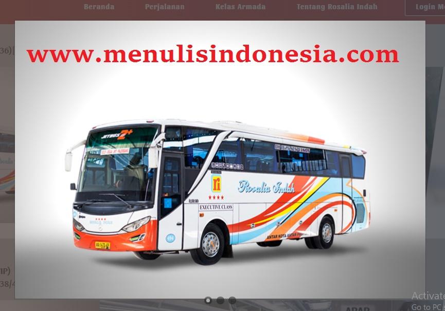 Tempat Pembelian Tiket Bus Rosalia Indah Di Lampung Menulis Indonesia