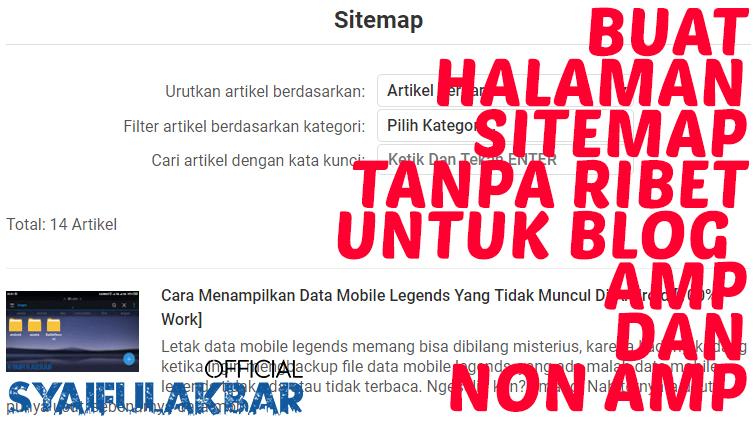 Cara Membuat Halaman Daftar Isi Blogger Responsive TANPA RIBET Untuk AMP Dan Non AMP