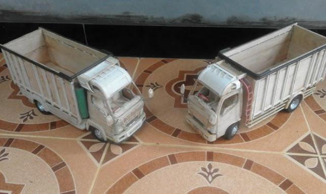 truk miniatur canter asal jepara
