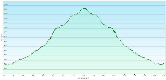 Desfiladero de Los Arrudos: Perfil ruta