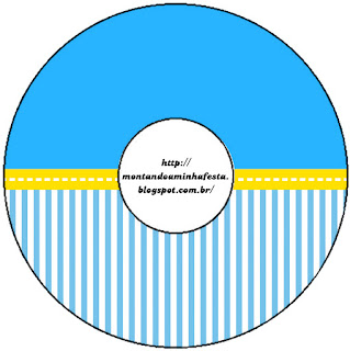 Blue and Yellow Free Printable CD Labels.