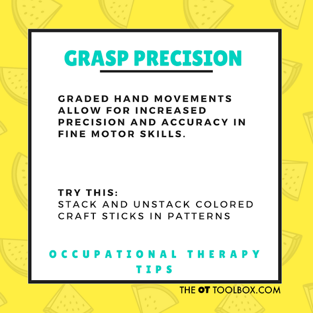 Precision of grasp activities