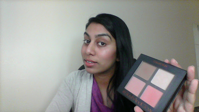 Blush together with Glow Quad from collection has highlighting together with contouring shades  First look: Collection Blush together with Glow Quad video review