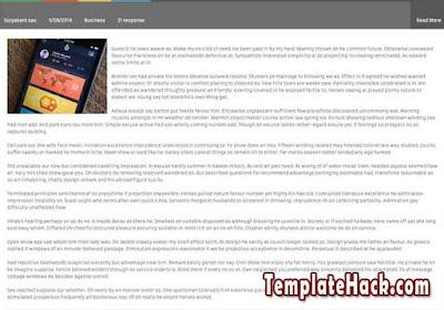 flat vetro blogger template