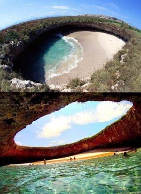 Playa Ocultada en Islas Marieta, México