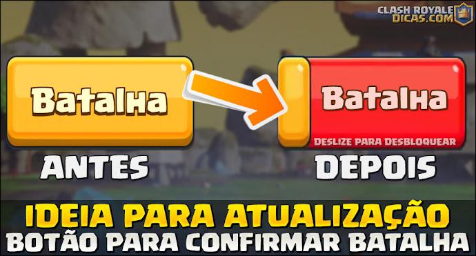 Ideias para atualizações: Travar botão de batalha
