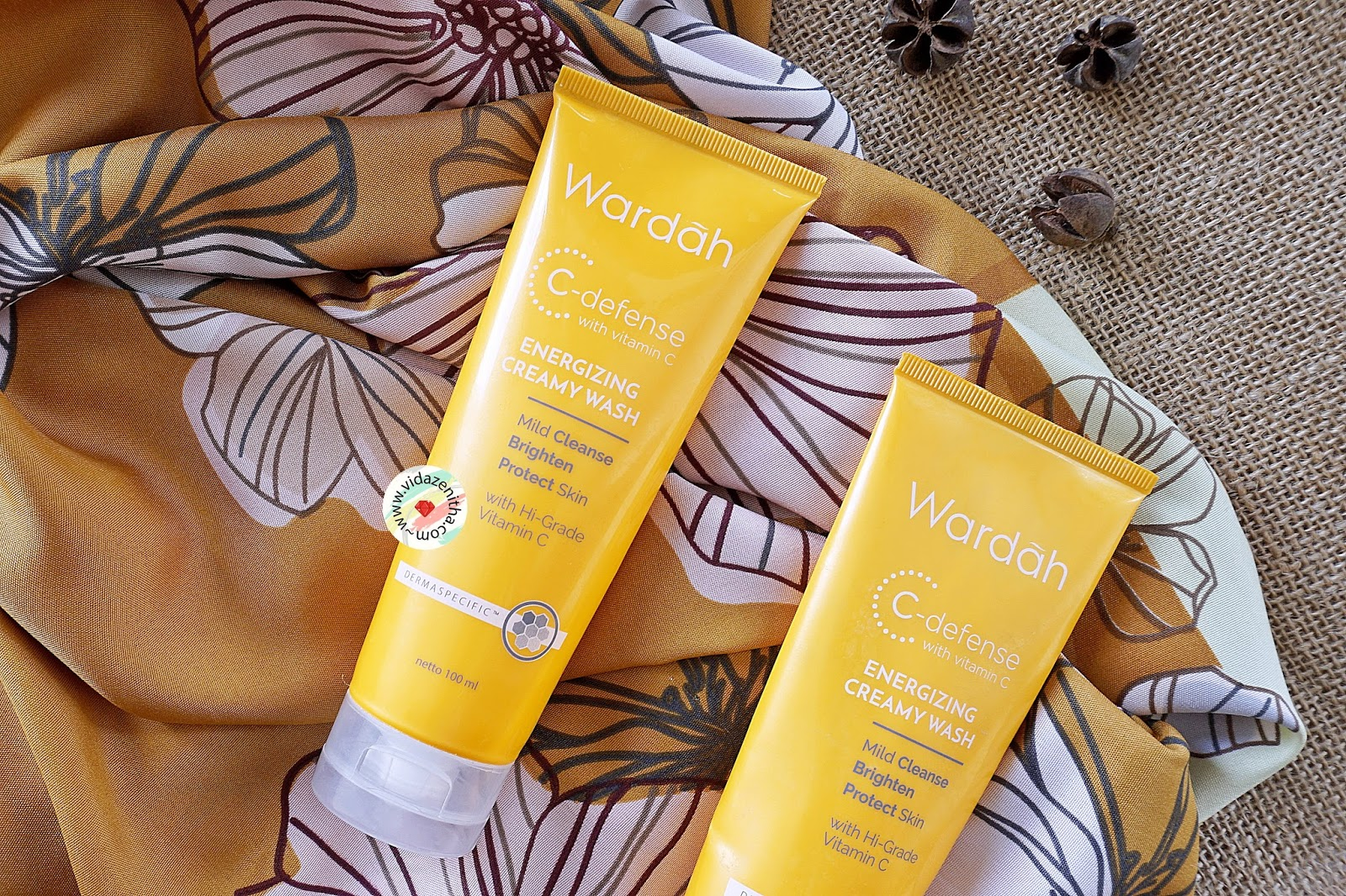 Packaging Wardah C Defense Energizing Creamy Wash