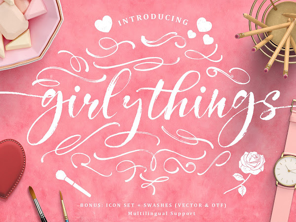 Girly Things Brush Script Font Free Download