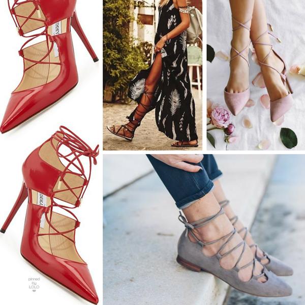 sandali con i lacci