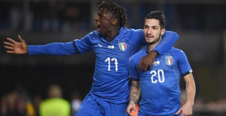 Italia-Stati Uniti 1-0: Vittoria azzurra con gol partita di Politano al 94' nell'ultima partita del 2018.