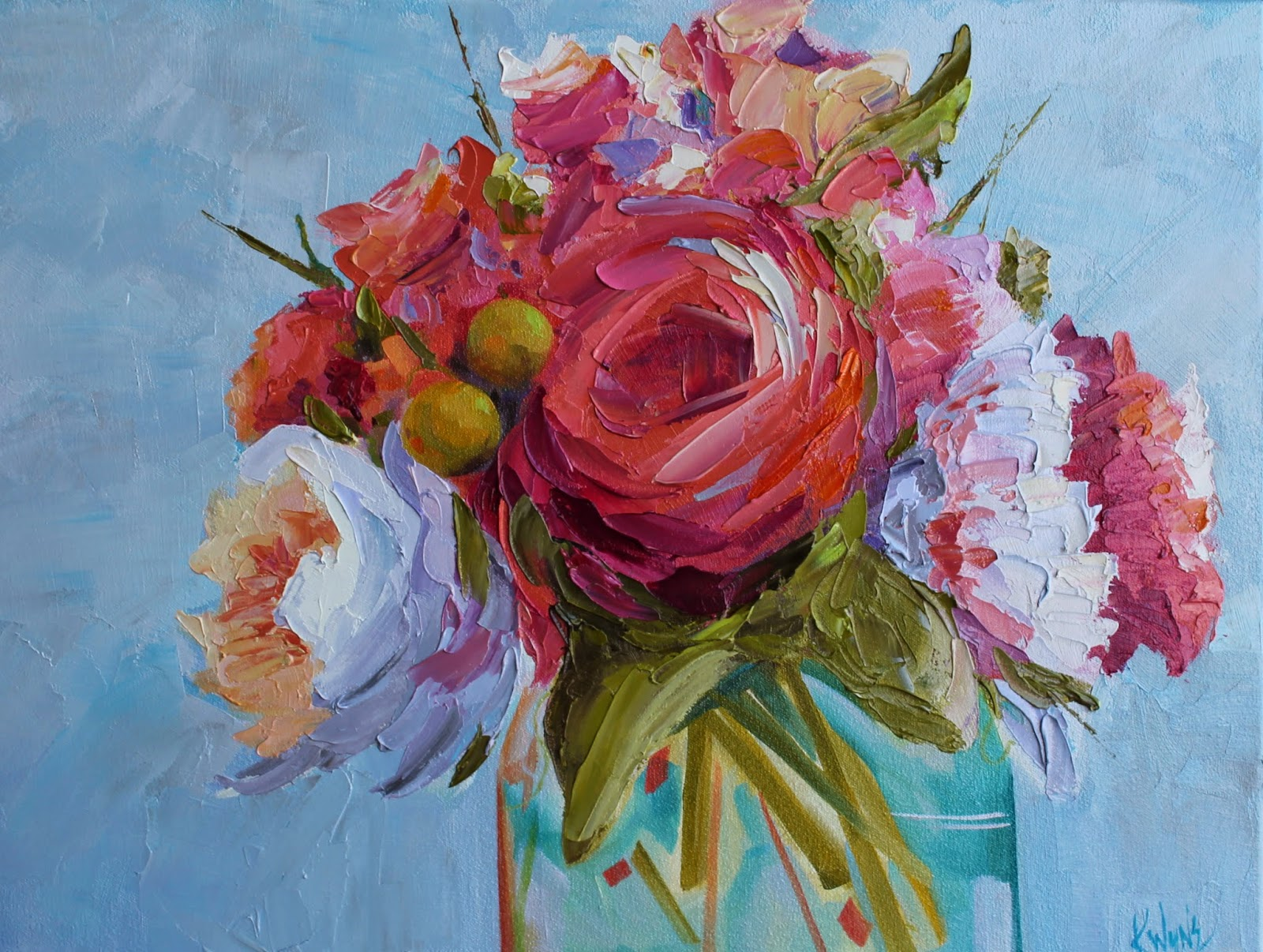 Kay Wyne Fine Art Blog Tickled Pink