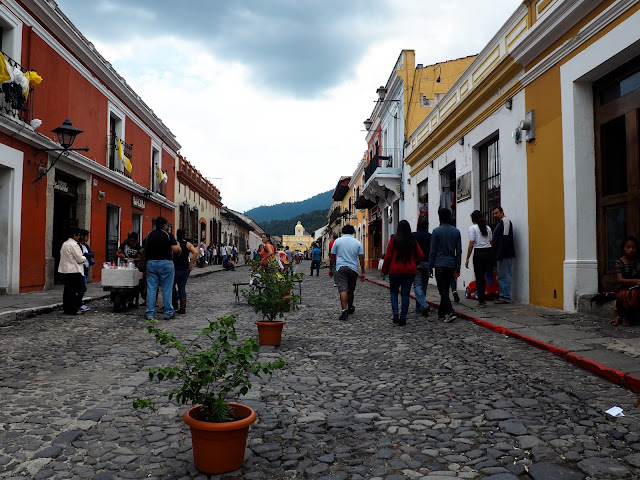 Cobbled streets of Antigua, Guatemala
