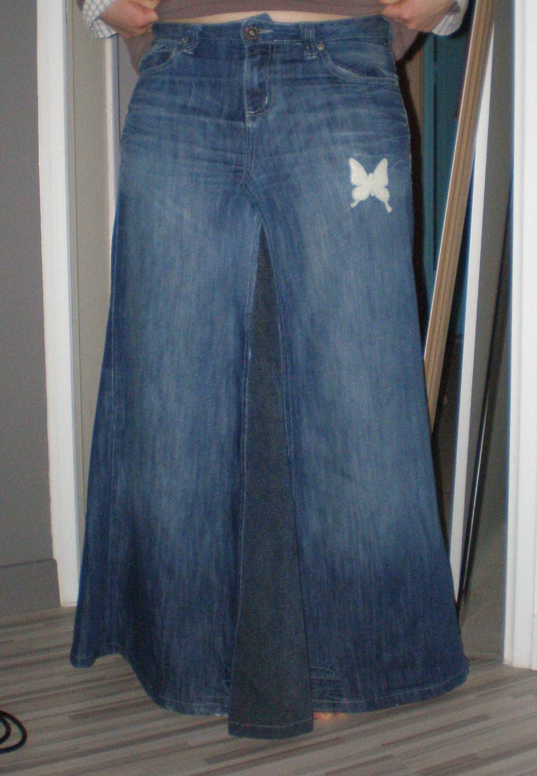 ae7a33b4cb30 Jupe Longue Jean