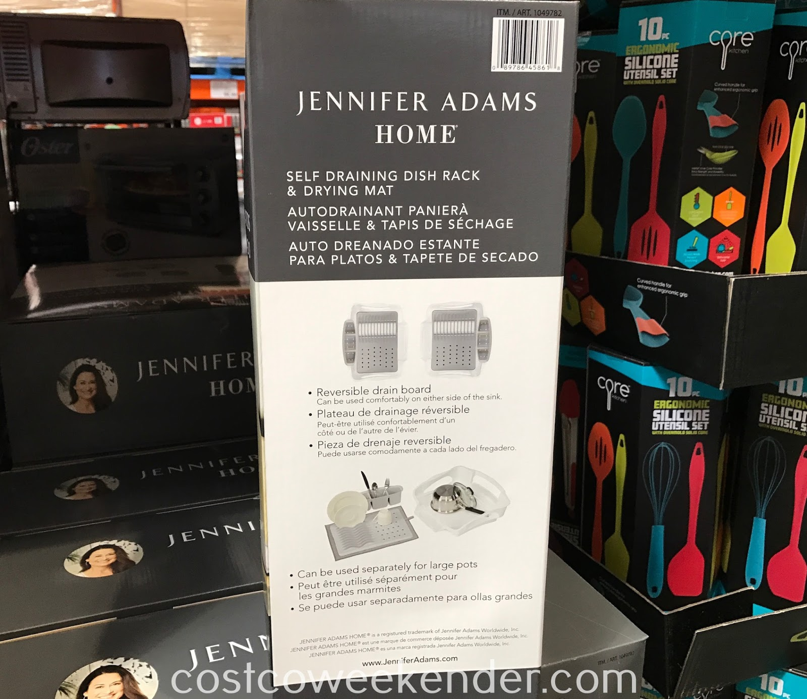 Make doing the dishes easier with the Jennifer Adams Home Self Draining Dish Rack & Drying Mat
