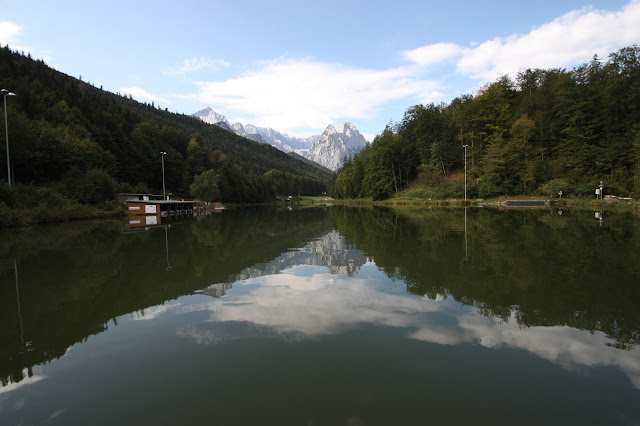 Septembermorgen am Riessersee in Garmisch-Partenkirchen
