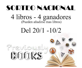 "SORTEO EN EL BLOG ""PREVIOUSLY BOOKS"""