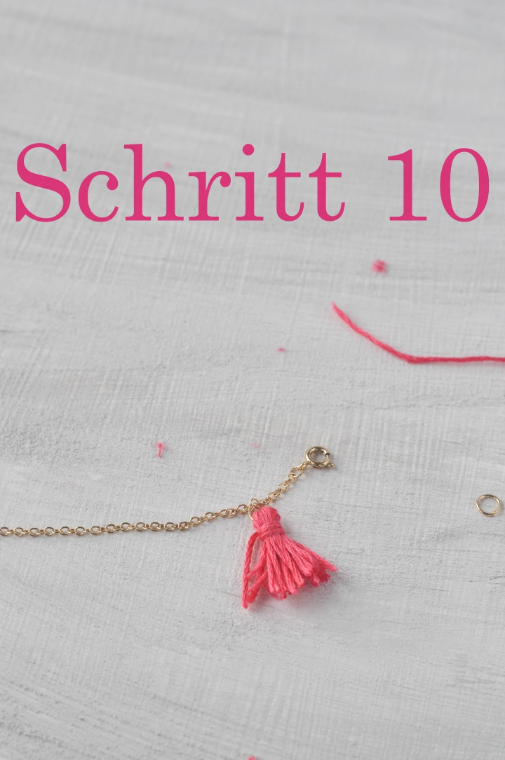 DIY Tassel Bracelet - how to, step 10