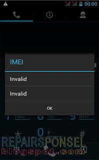Cara mengatasi Invalid IMEI Advan S4E
