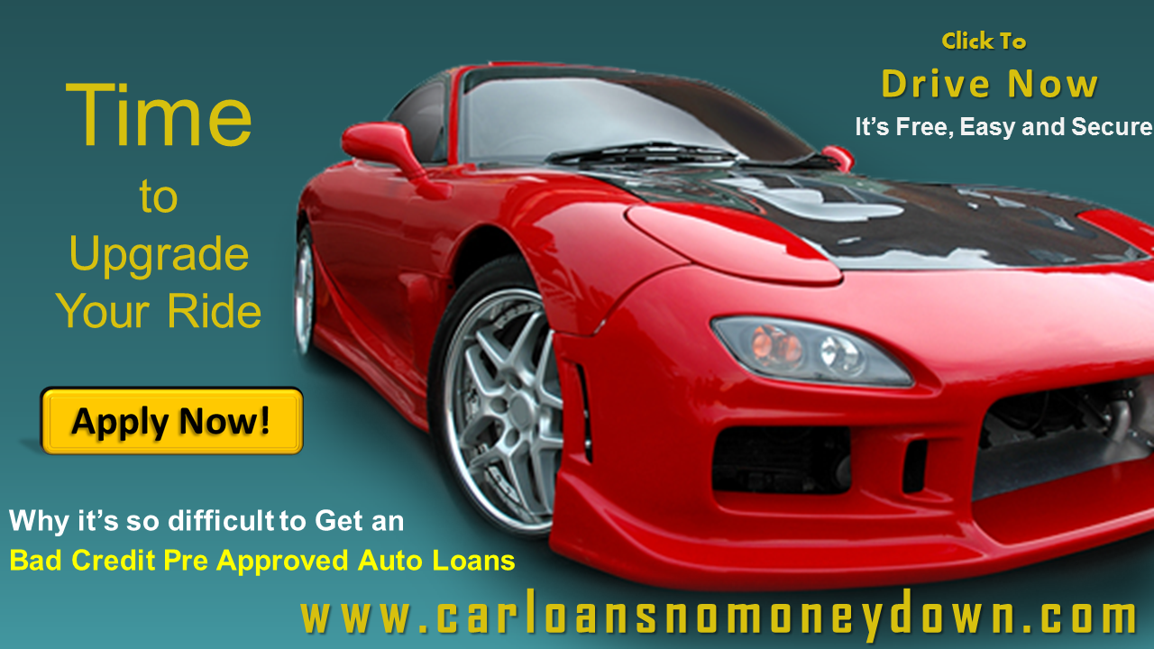 All Approved Auto >> Getting Pre Approved For A Car Loan With Bad Credit Online Today