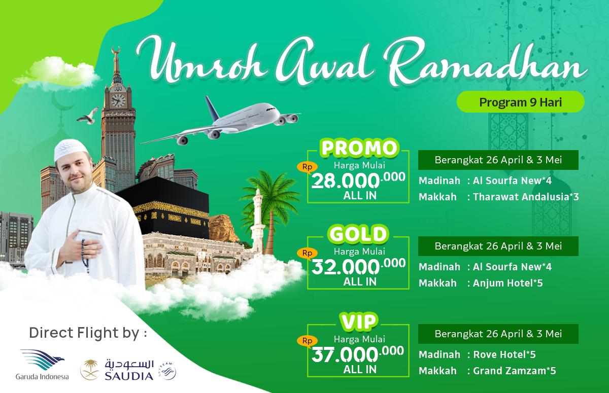 Promo Paket Umroh Biaya Murah Jadwal Awal Bulan Ramadhan 2020 9 Hari