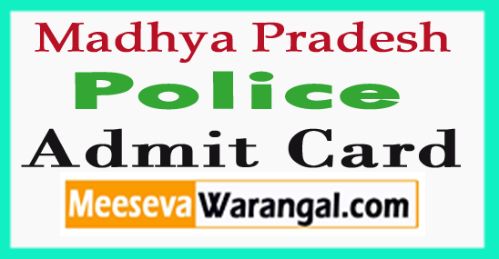 MP Police Admit Card 2017