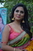 Actress Srushti Dange Latest Pos in Yellow Silk Saree at Saravanan Irukka Bayamaen Tamil Movie Press Meet  0001.jpg