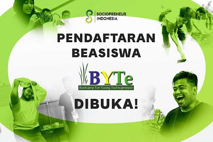 Program Beasiswa Bootcamp For Young Technopreneur BYTe 2019