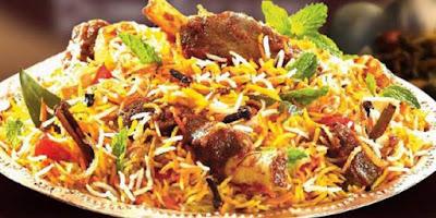 Hyderabadi chicken biriyani
