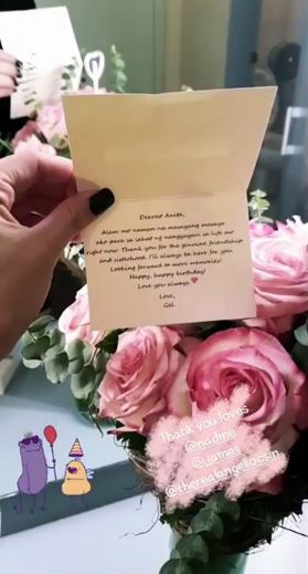 Angel Locsin Surprises Anne Curtis With Flowers For Her Birthday!
