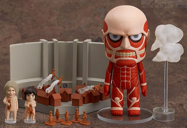 FIGURA COLOSSAL TITAN & Attack on Titan Playset NENDOROID Shingeki no Kyojin