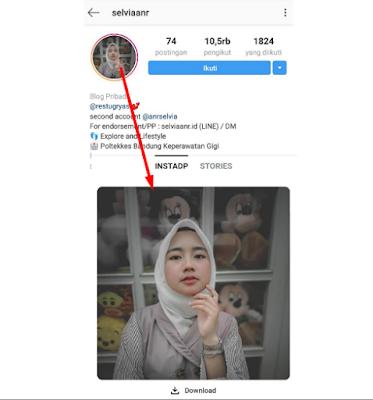 Cara Melihat Foto Profil Instagram Secara Full/Penuh Di Android Tanpa aplikasi