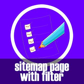 Halaman Sitemap dengan Filter